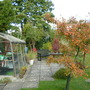 Garden with autumn colours