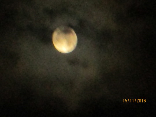 Super Moon at about 4.30ish