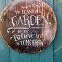 Plaque for garden