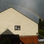 Looks like the rainbow has missed the neighbour's house