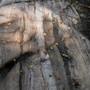 "Granite rock with a 4"" vein of quartz."