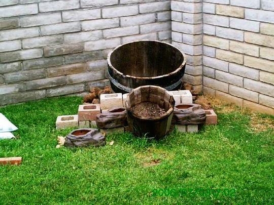 Corner Barrel Garden