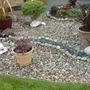 Gravel garden and pots