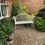 New bench in the front garden