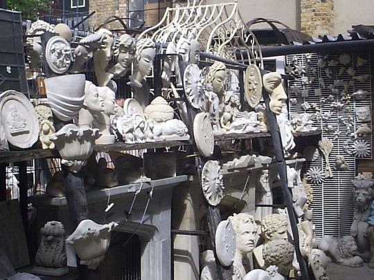Garden Ornaments, Ezra St., off Columbia Road, London