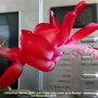 Christmas Cactus (Dark red) flower (very close up) in kitchen 3rd November 2018 (Schlumbergera truncata)