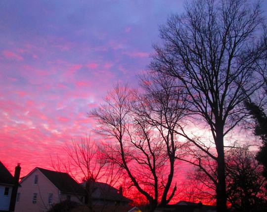 February Skies In New York