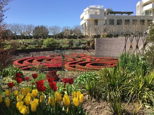 Beautiful gardens of J.P.Getty Center, Santa Monica