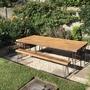 Sunken sunny seating (Akebia quinata (Chocolate vine))