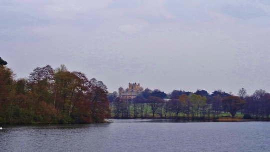 Woollaton Hall and lake