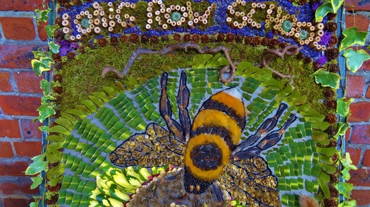 Well dressings in Belper. This one done by a local school.