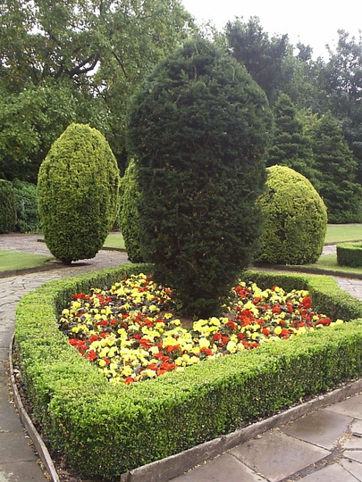 """Detail in the """"English Garden"""", Victoria Park, East London"""