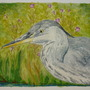 Watercolour of the heron.