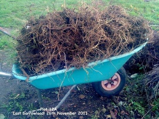 Plot 12A Last barrowload 26-11-2011