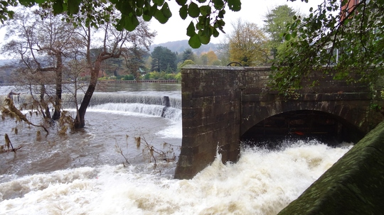 This was the river Derwent at Belper after it had gone down a bit yesterday