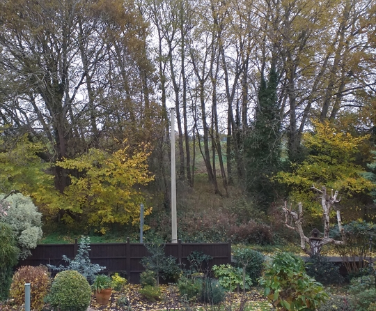 View of the hills slowly opening up.