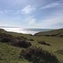 Sandymouth Bay near Bude in sunshine today.