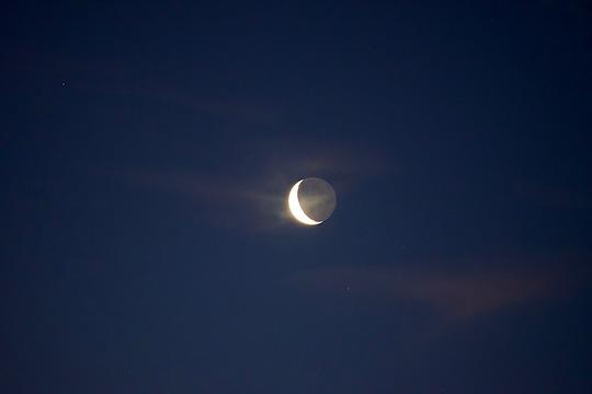 Early morning moon.
