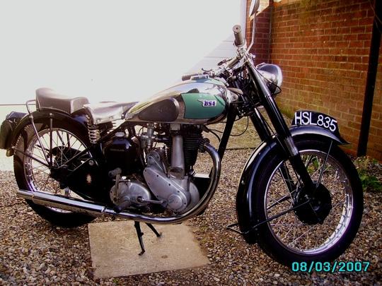 Motor bike 1946 BSA  for Paul