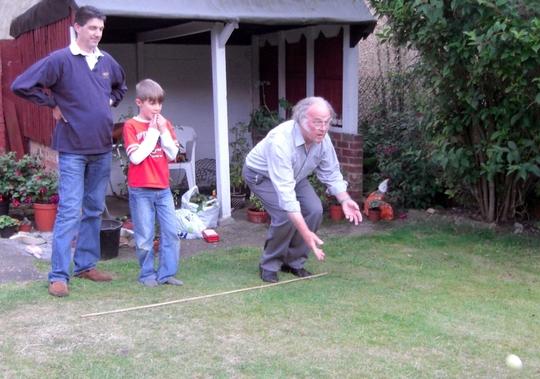 Improvised Boulles in my dad's garden