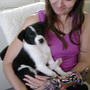 MY DAUGHTER SUE AND HER NEW PUPPY MAX, JUST NODDING OFF.