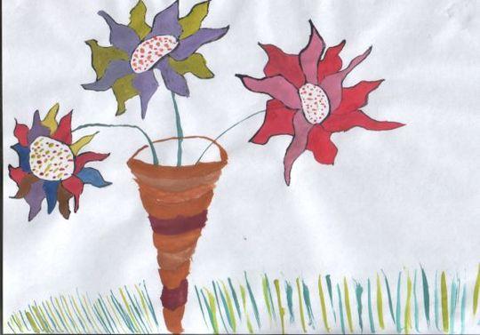 Jade's flower painting