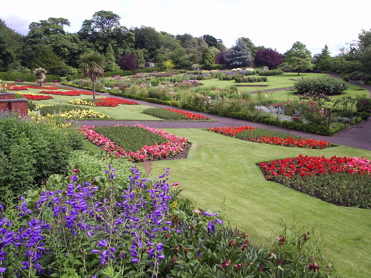 "The ""Herbaceous Fields"", Pittencrieff Park, Dunfermline, Fife."
