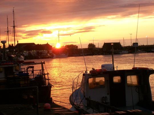 Sunset over Wells next the Sea, Norfolk