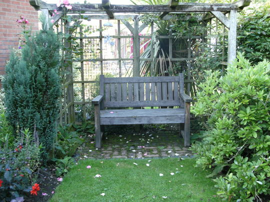 Sit a while ..garden seat