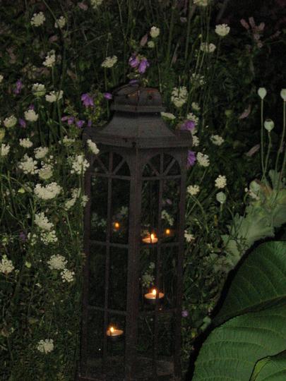 Candle lit lantern....