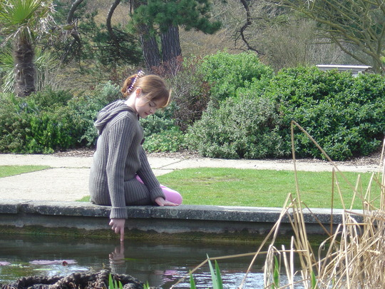 Kay by the pond