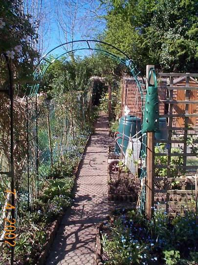 New arch onto veg plot.