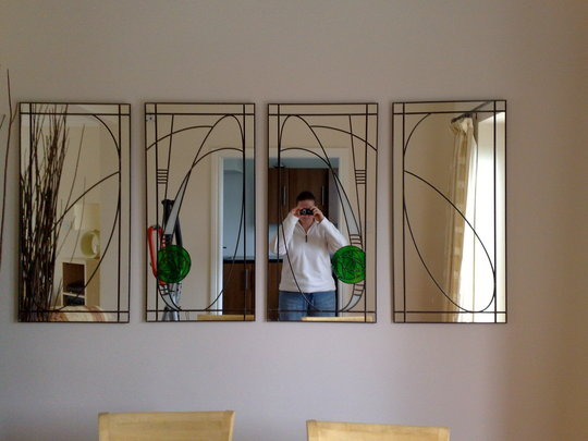Mirrors made by uncle, just like you requested Lyd :o)