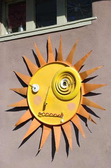 Sun Face from Madrid, New Mexico