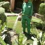 Hotel Gardener Watering
