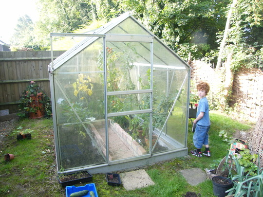 william and our new greenhouse