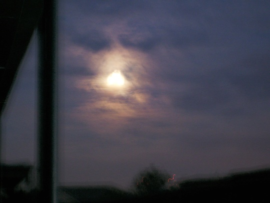 Full moon - you can see how bright it is when it doesn't have to compete with city lights!