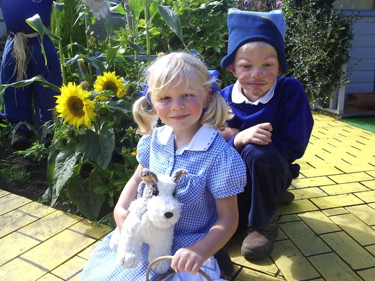 Taking a rest on the Yellow Brick Road