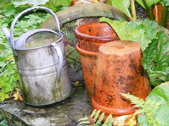 Watering Can, Sieve,Flowerpots
