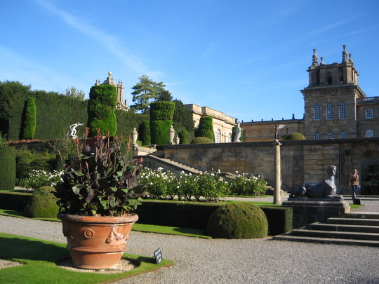 The formal gardens, Blenheim Palace, Oxfordshire