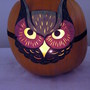 Owl mask pumpkin from last year