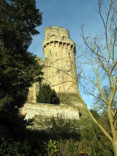 Warwick castle from the Mill Garden