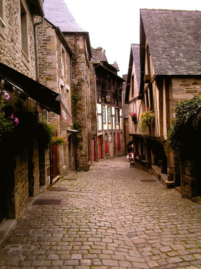 Street with Hanging Baskets France.