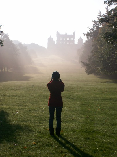 Wollaton Hall rising out of the mist