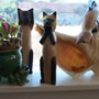 wooden kitties