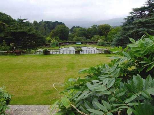 View from the Rose Terrace, Bodnant Garden, N.Wales