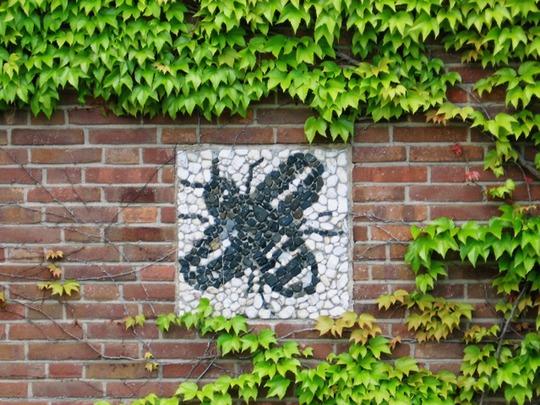 Bee Mosaic Wall