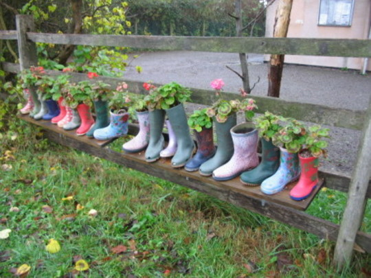 Wellie Planters