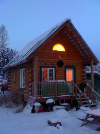 Cabin in Evening