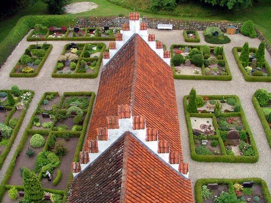 Danish churchyard